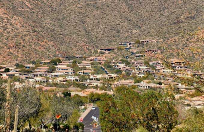 A view of the homes in Scottdale Mountain, Scottsdale AZ
