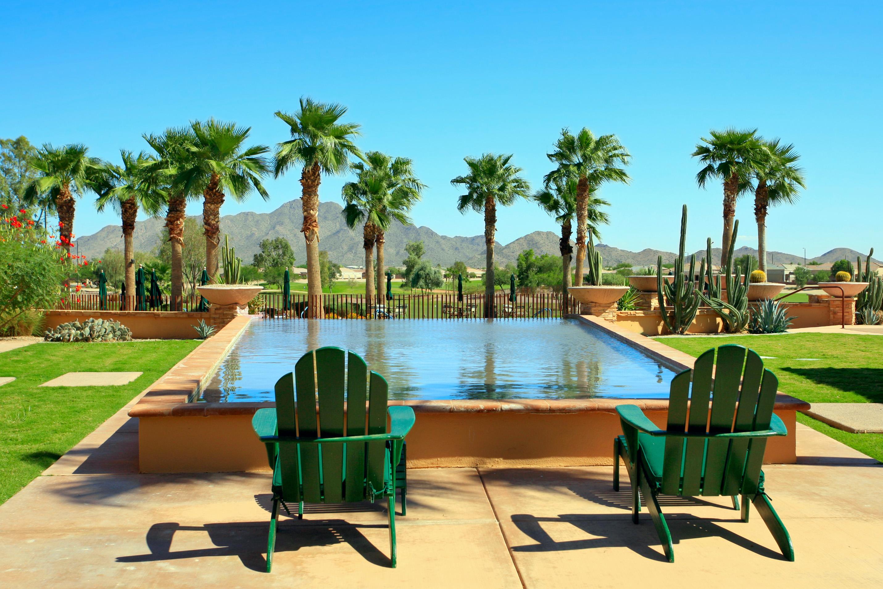 Poolside life in Tatum Ranch Scottsdale AZ