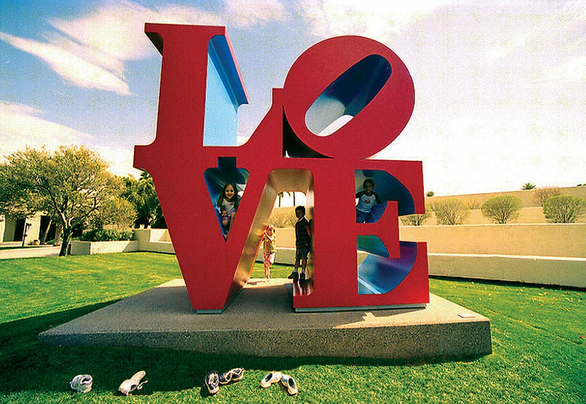 Love statue by local artist in Scottsdale, AZ