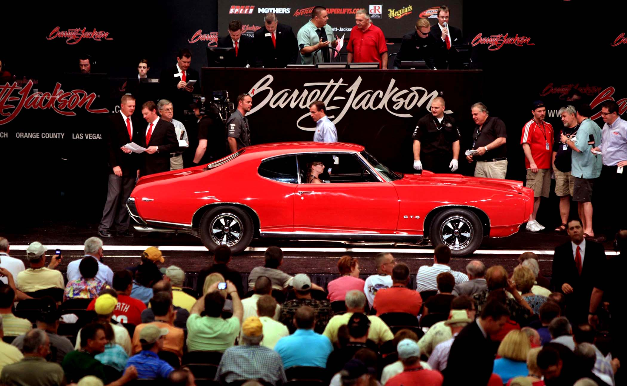 A 1969 Pontiac GTO at Barrett Jackson Auto Show, Scottsdale AZ