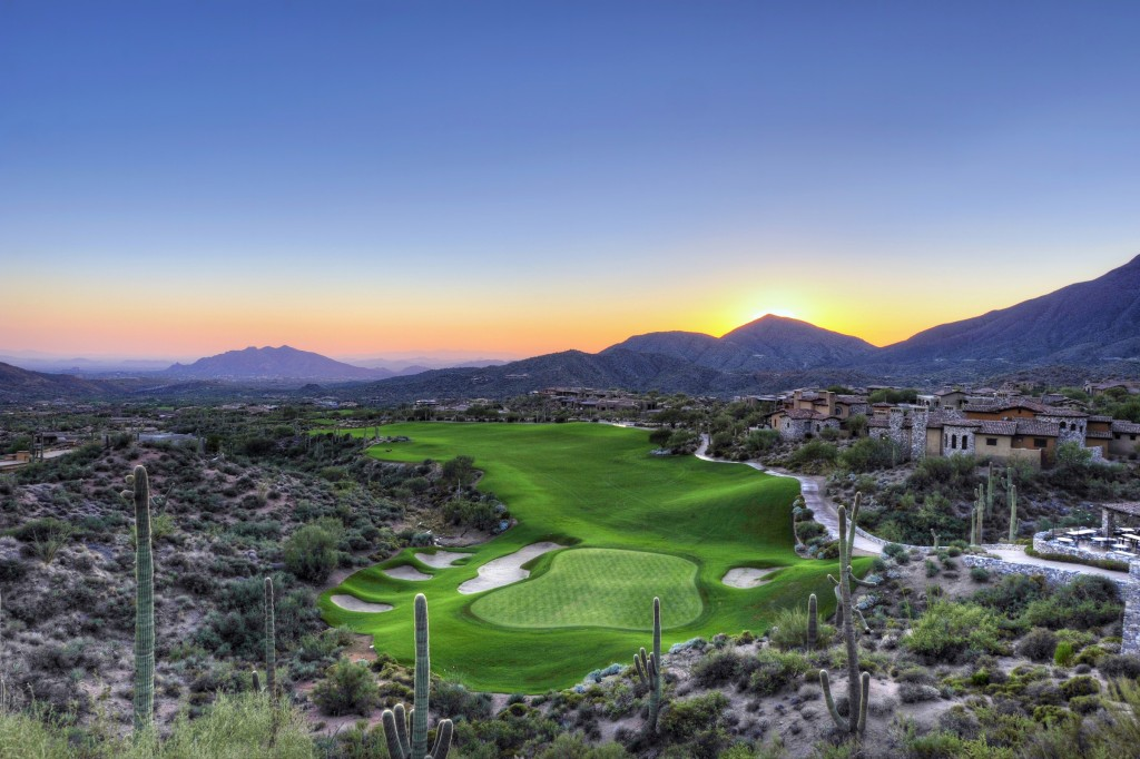Sunset at Desert Mountain Golf Course, Scottsdale AZ