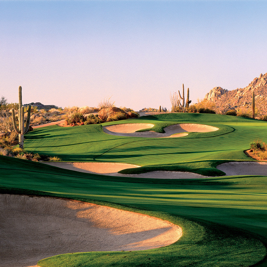 A view of a Golf Course from a home for sale in Scottsdale AZ